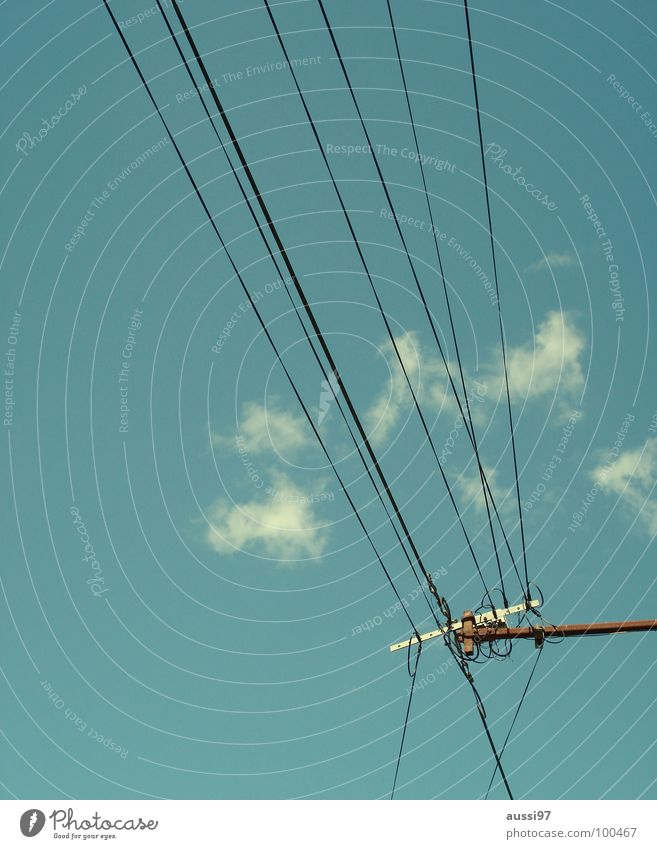 Stromversorger II Elektrizität Kabel Oberleitung Elektrisches Gerät Technik & Technologie Stromversorgung Energiewirtschaft Verbindung Strommast