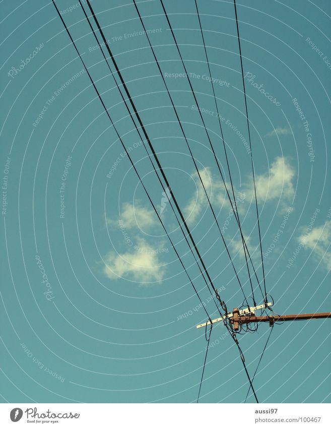 Stromversorger II Energiewirtschaft Elektrizität Technik & Technologie Kabel Verbindung Strommast Oberleitung Elektrisches Gerät