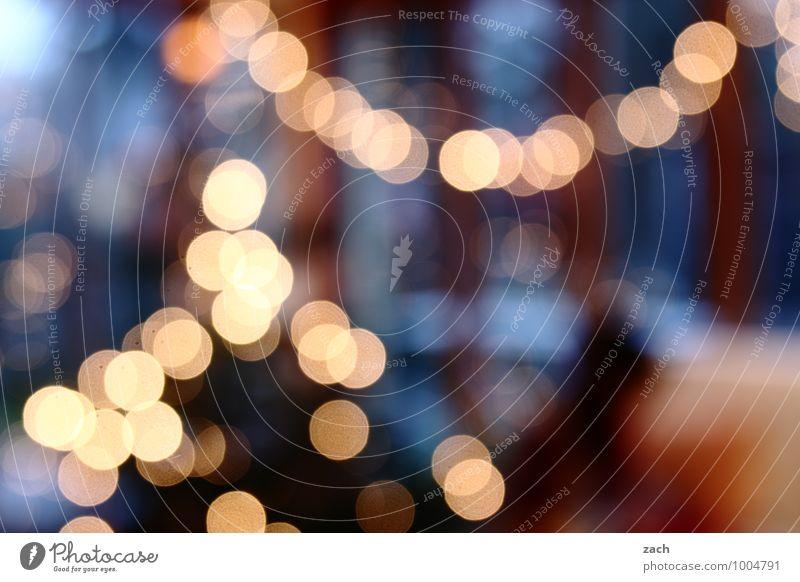 vielfältig | Leuchten Wohnung Innenarchitektur Dekoration & Verzierung Lampe Weihnachten & Advent Kitsch Krimskrams leuchten blau Licht Lichterkette Lichtschein