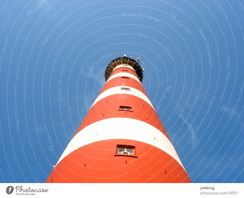 Leuchtturm Himmel Ferien & Urlaub & Reisen Meer Insel Europa Turm Nordsee Island Leuchtturm Blauer Himmel Flughafen