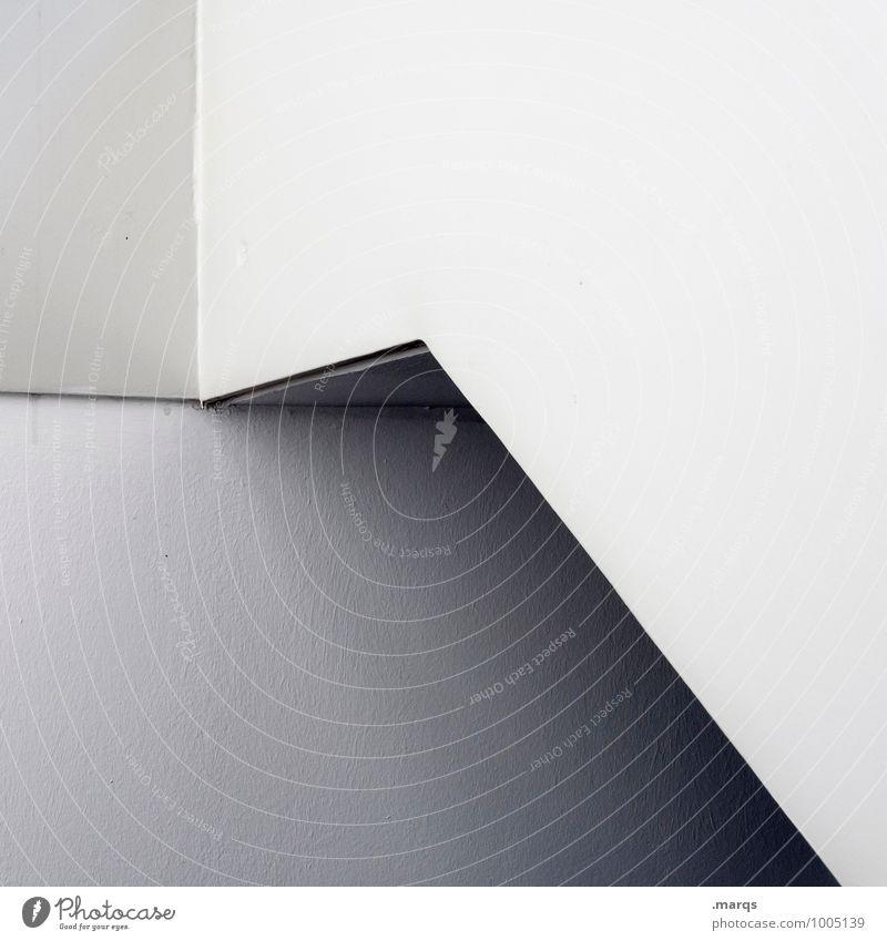 Ab Architektur Mauer Wand Linie eckig einfach hell grau weiß ästhetisch Perspektive steril Grafik u. Illustration minimalistisch Schwarzweißfoto Außenaufnahme