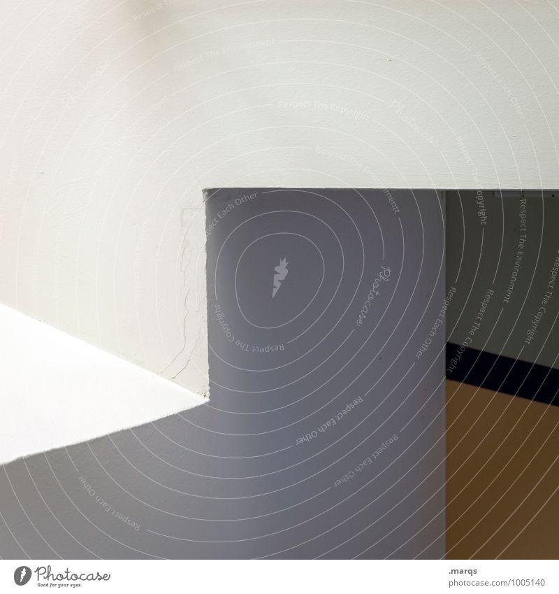Um die Ecke Lifestyle elegant Stil Design Innenarchitektur Architektur Linie eckig Sauberkeit weiß ästhetisch Ordnung Präzision Grafik u. Illustration