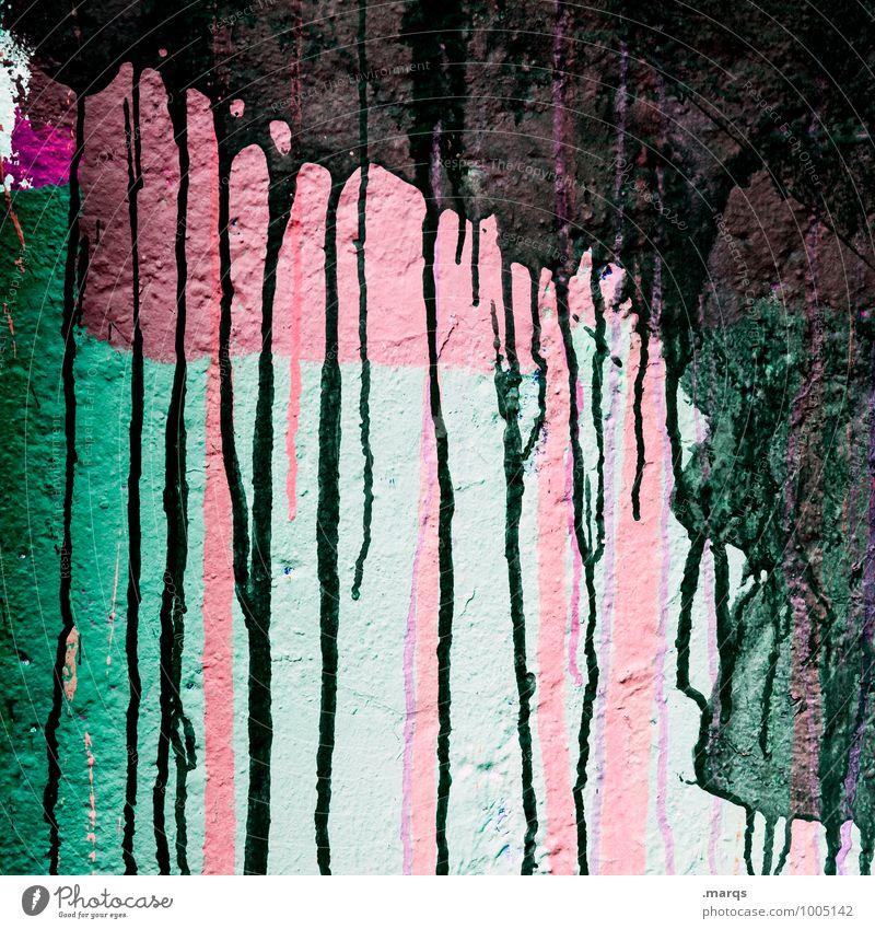 Trashy Lifestyle Stil Design Anstreicher Mauer Wand Linie Coolness einzigartig trashig Farbe Schmiererei fließen Flüssigkeit Graffiti Farbfoto Außenaufnahme