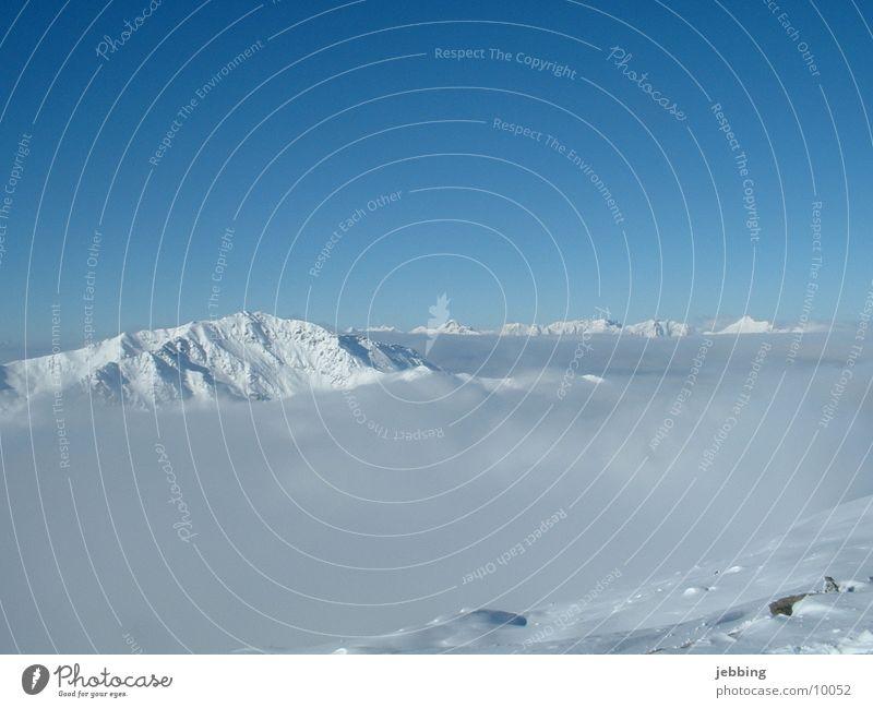 Berge im Nebel Himmel Schnee Berge u. Gebirge Spitze Aussicht Österreich Gletscher