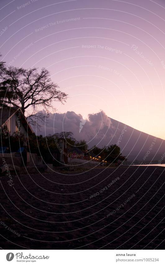 am strand Landschaft Wasser Wolkenloser Himmel Nachthimmel Sonnenaufgang Sonnenuntergang Schönes Wetter Vulkan Küste Strand Meer Insel Schwimmen & Baden