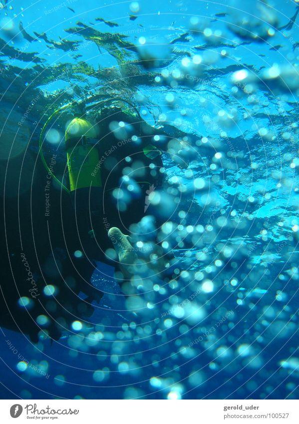 Blubber blubber tauchen kalt Meer Tauchgerät Wasserfahrzeug Sport Spielen blasen Flasche Unterwasseraufnahme
