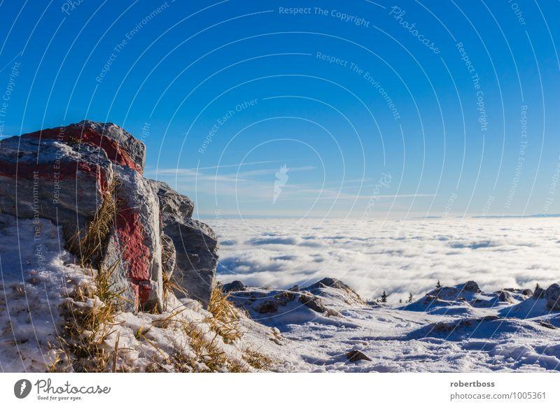 View Over The Clouds Himmel Natur Ferien & Urlaub & Reisen Pflanze blau schön weiß Sonne Erholung rot Landschaft Einsamkeit Freude Winter Berge u. Gebirge
