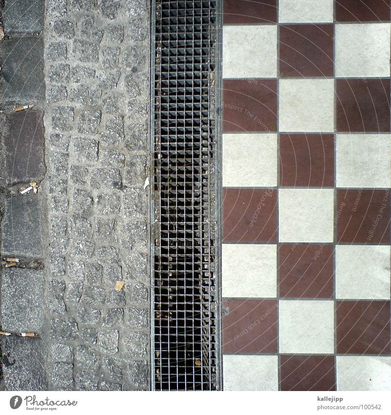 im quadrat Wege & Pfade Stein Metall Bodenbelag Bürgersteig Fliesen u. Kacheln Quadrat Kopfsteinpflaster Material Gitter kariert Abfluss Bodenplatten Gitterrost