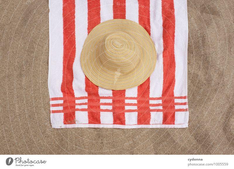 Urlaub Ferien & Urlaub & Reisen Sommer Sonne Erholung Meer ruhig Ferne Strand Leben Zeit Freiheit Sand Lifestyle liegen träumen Ordnung