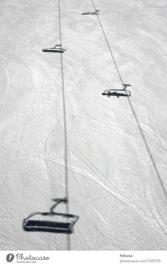 Liftschatten Schnee Wintersport Skilift Skipiste Sesselbahn