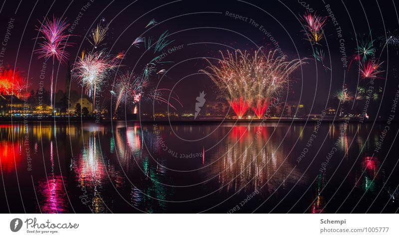 Happy New Year Tourismus Nachtleben Entertainment Party Veranstaltung einzigartig Energie Silvester u. Neujahr Feuerwerk Farbfoto Menschenleer