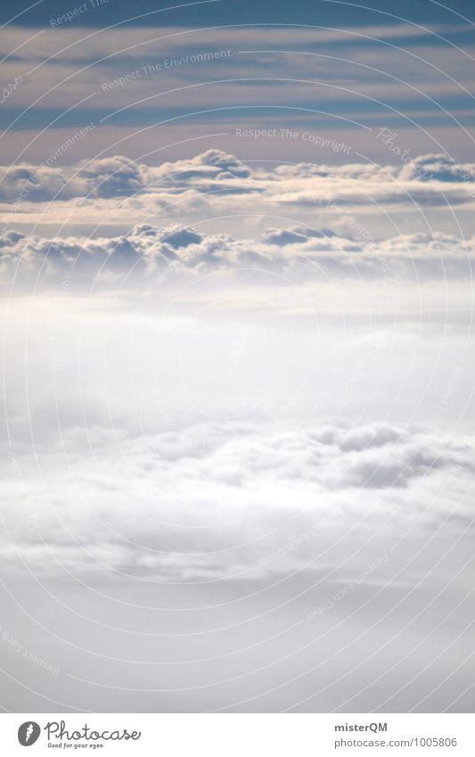 Flying high. Natur ästhetisch Zufriedenheit Wolken friedlich Wolkenhimmel Wolkendecke Wolkenfeld Wolkenschleier Wolkenband Wolkenberg Himmel (Jenseits) blau