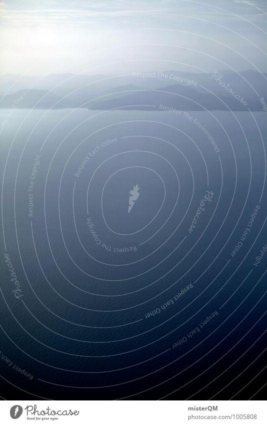 Blauer Ozean. Himmel Natur Ferien & Urlaub & Reisen blau Wasser Meer Landschaft Umwelt Idylle ästhetisch Insel Urelemente Planet friedlich Meerwasser Urlaubsfoto