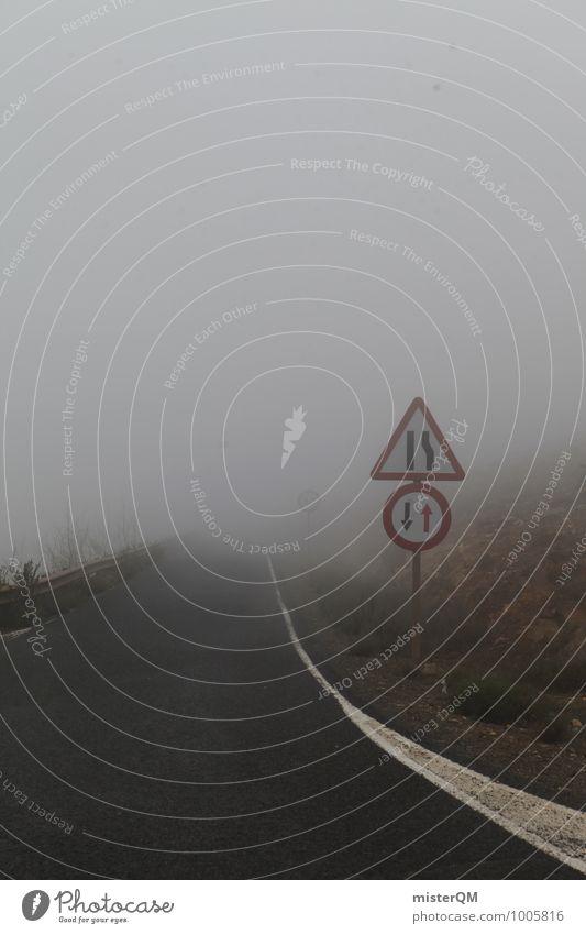 ungewiss. Kunst ästhetisch Zufriedenheit Nebel Nebelschleier Nebelbank Nebelmeer Nebelstimmung Nebelfeld Ungewisse Zukunft dunkel Einsamkeit Unbewohnt