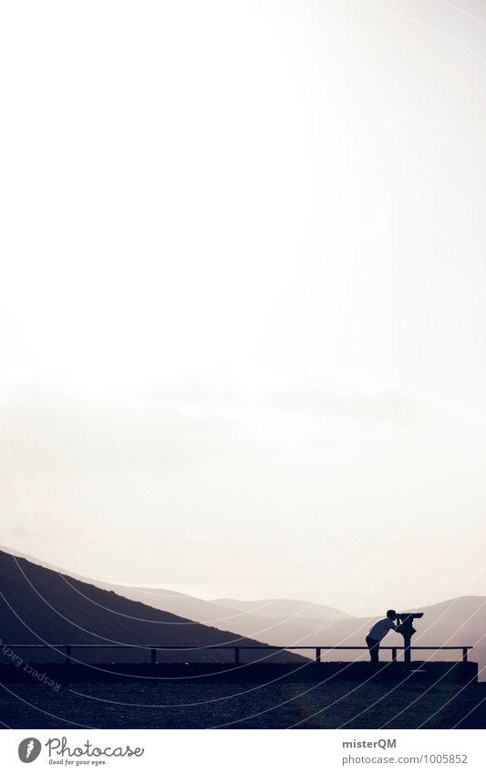 Fernweh. Kunst ästhetisch Zufriedenheit Ferne Teleskop Aussicht Aussichtsturm Tourist Tourismus Ferien & Urlaub & Reisen Urlaubsfoto Urlaubsstimmung