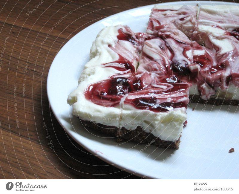 lecker Kuchen (1von3) Freude Geburtstag Teile u. Stücke Geschirr Teller Anschnitt Backwaren Kirsche Teigwaren Sahne Jubiläum cremig