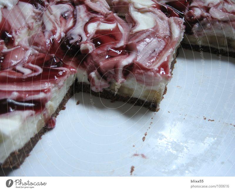 lecker Kuchen (2von3) Freude Geburtstag Teile u. Stücke Geschirr Teller Anschnitt Backwaren Kirsche Teigwaren Sahne Frucht cremig
