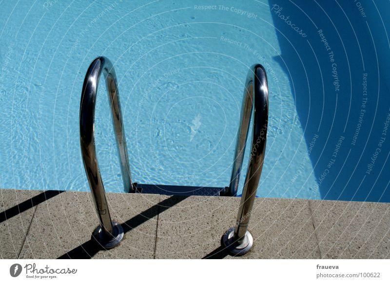 abkühlung Schwimmbad Sommer Wasser Freizeit & Hobby Leiter water hot swimming schimmbecken Außenaufnahme