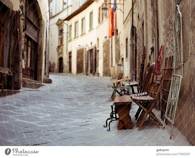 Trödelgasse Ferien & Urlaub & Reisen Ferne Sightseeing Städtereise Arezzo Italien Toskana Europa Dorf Kleinstadt Altstadt Gasse alt historisch Kultur