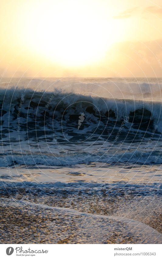 Brandungsburg. Wasser Sonne Meer Strand Küste Kunst Zufriedenheit Wellen ästhetisch Brandung Gischt Wellengang unruhig sprudelnd Meerwasser Wellenform
