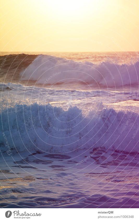 Purple Waves. Strand Küste Kunst Zufriedenheit Wellen ästhetisch Wellengang Urlaubsfoto Wellenform Urlaubsstimmung Wellenschlag Wellenlinie Wellenkuppe