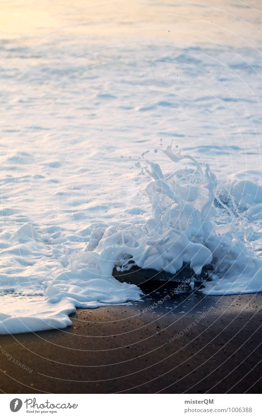 White Surf. Ferien & Urlaub & Reisen weiß Küste Kunst Zufriedenheit Wellen ästhetisch Sommerurlaub Surrealismus verträumt Brandung Schaum Wellengang Urlaubsfoto
