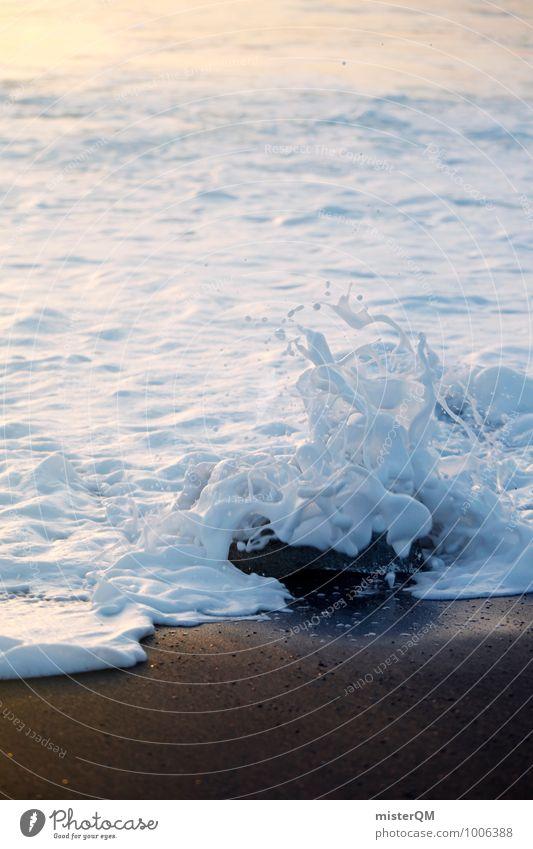 White Surf. Kunst ästhetisch Zufriedenheit Wellen Wellengang Wellenform Wellenschlag Wellenlinie Küste Brandung Schaum Schaumberg Ferien & Urlaub & Reisen