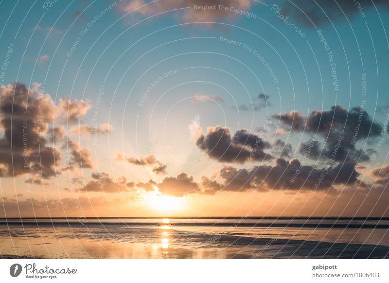 let the sunshine... Ferien & Urlaub & Reisen blau Sommer Sonne Erholung Meer Landschaft ruhig Strand Ferne Frühling Küste Wege & Pfade Freiheit Zufriedenheit