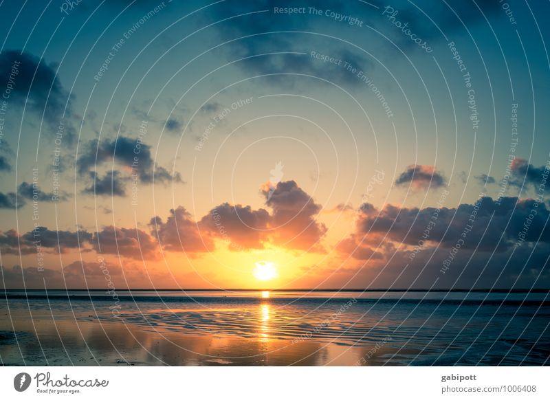 Sehnsucht nach warm Himmel Natur Ferien & Urlaub & Reisen blau Sommer Erholung Meer Landschaft Wolken Strand Ferne Umwelt Leben Küste Freiheit Schwimmen & Baden
