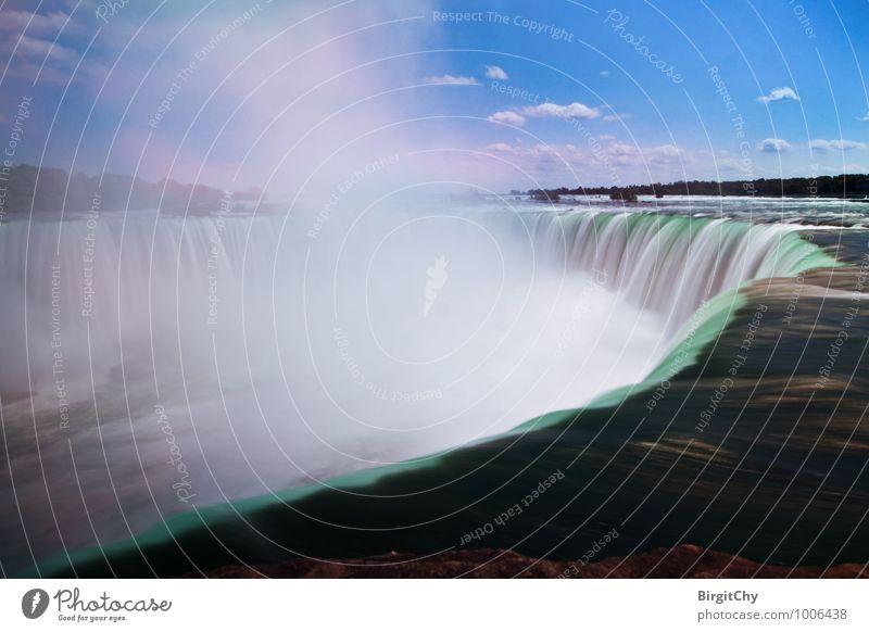 Niagarafälle Natur Himmel Wolken Sommer Schönes Wetter Wasserfall Niagara Fälle Sehenswürdigkeit gigantisch Idylle Ferien & Urlaub & Reisen Farbfoto