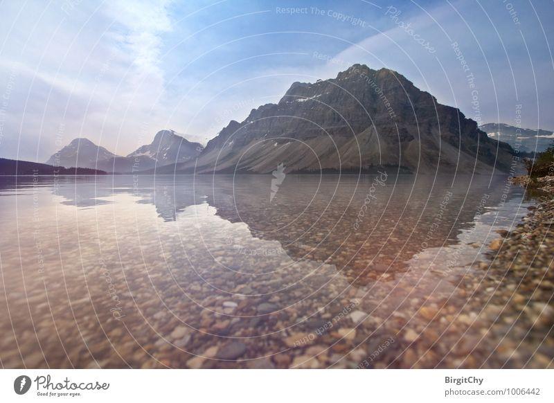 Bow Lake Himmel Natur Ferien & Urlaub & Reisen Wasser Sommer Landschaft Berge u. Gebirge Idylle Rocky Mountains
