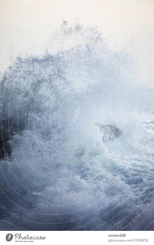 White Boom. weiß Wasser Meer Küste Kunst Zufriedenheit Wellen ästhetisch bedrohlich Dynamik Brandung rau Schaum Gischt toben Wellengang