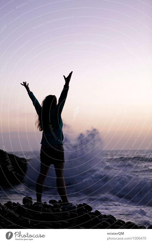Water Games II Mensch Frau Natur Meer Landschaft Umwelt Küste Kunst Energiewirtschaft Zufriedenheit ästhetisch Kraft Zauberei u. Magie Brandung Zauberer Urlaubsstimmung