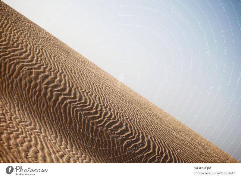 Verweht II Kunst ästhetisch Zufriedenheit Wüste Strukturen & Formen Wellenform Sand Sandstrand Oberfläche Sahara Wärme Farbfoto Gedeckte Farben Außenaufnahme