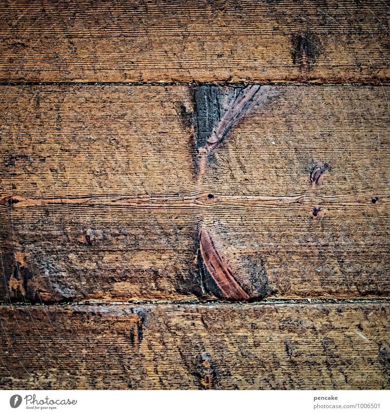 retro | abgelaufen Holz alt authentisch dreckig gut einzigartig nah natürlich Originalität braun Weisheit Inspiration Holzfußboden Dielenboden Holzbrett