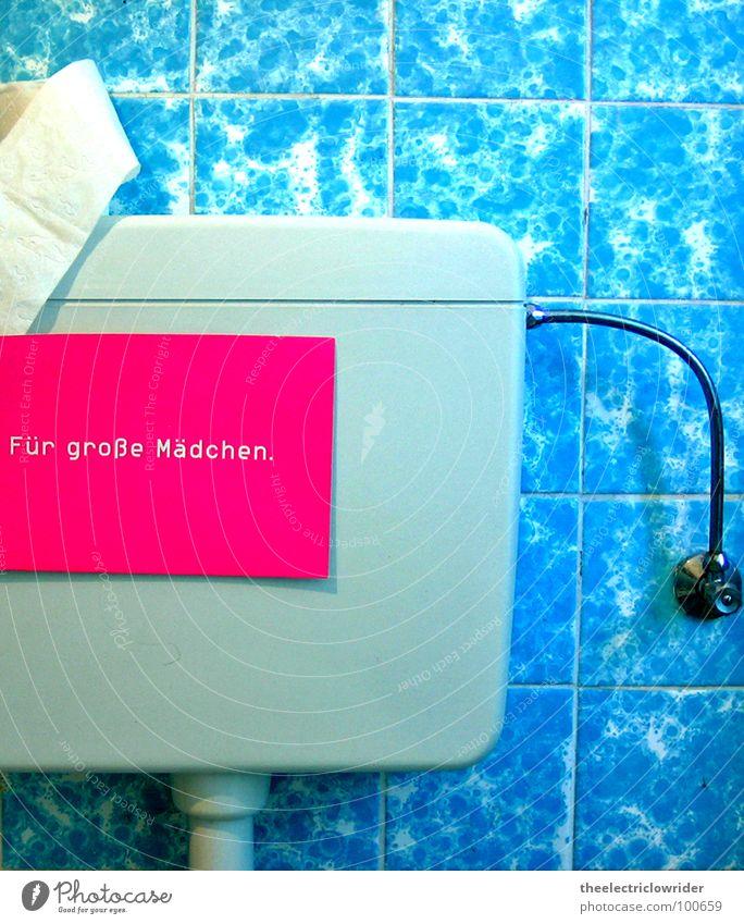 Nur Für Große Mädchen Toilette Toilettenpapier blau rosa weiß Toilettenspülung Bad Fliesen u. Kacheln Schilder & Markierungen groß spülen urinieren Buchstaben