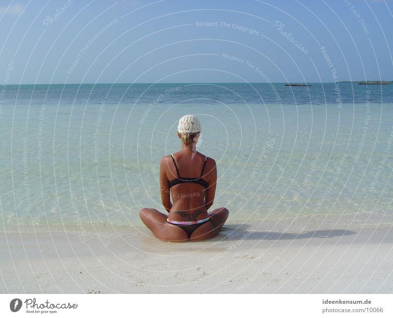 Freundin Sonne Meer Strand Einsamkeit Norwegen Insel Romantik Skandinavien Kuba Yucatan Mexiko Küste Insel Runde Isla Contoy