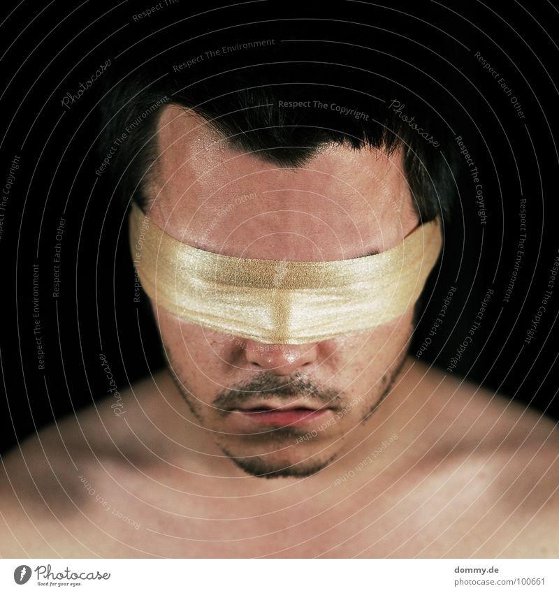 dont look away Mann Gesicht Auge Haare & Frisuren Angst Mund Haut Nase 3 Ohr Lippen Bart verbinden Panik erste Verbundenheit