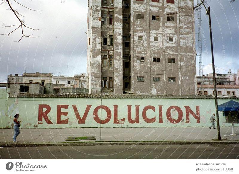 Revolucion Mauer Kuba Wiedervereinigung Havanna Sozialismus