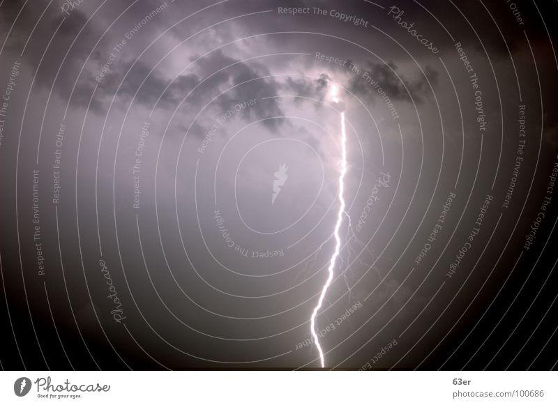Leitzahl 1.000.000 Himmel Meer Wolken hell Stimmung Angst Wetter Blitze Gewitter Kroatien Donnern