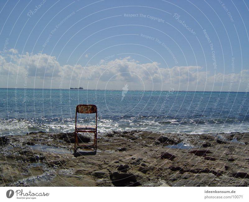 Stuhl Meer Strand Einsamkeit Felsen Kuba Rost Mexiko