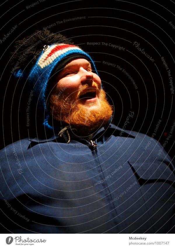 Orange Bear Mensch Jugendliche blau weiß rot Freude Junger Mann 18-30 Jahre schwarz Erwachsene Auge lustig grau lachen Kopf maskulin