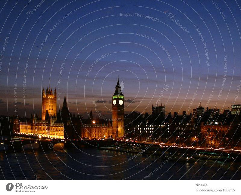 London, kurz vor Weihnachten 2005 Ferien & Urlaub & Reisen Architektur London Nacht Lichtspiel Houses of Parliament Themse Big Ben