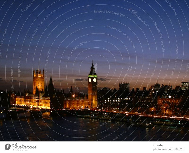 London, kurz vor Weihnachten 2005 Ferien & Urlaub & Reisen Architektur Nacht Lichtspiel Houses of Parliament Themse Big Ben