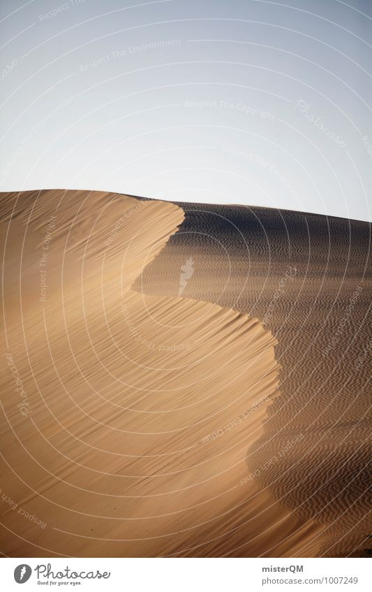Sandwelle. Umwelt Natur Landschaft Klima Klimawandel Schönes Wetter Wind Hügel ästhetisch Zufriedenheit Düne Wellenform Wüste Wärme Sahara Ferne