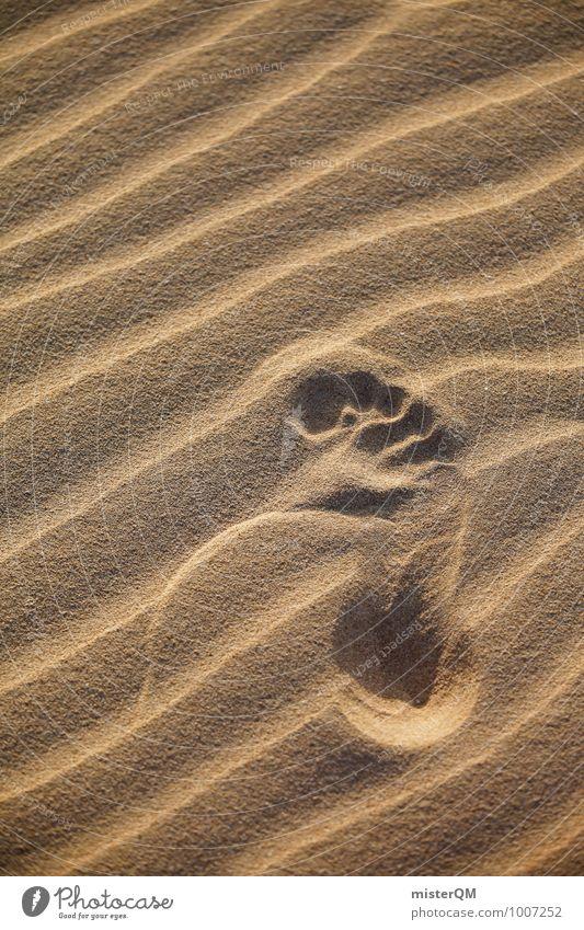 Step. Umwelt Natur Landschaft ästhetisch Zufriedenheit Fußspur Sandstrand Wüste Wärme Sommer Sommerurlaub sommerlich Stranddüne Mensch Farbfoto Gedeckte Farben