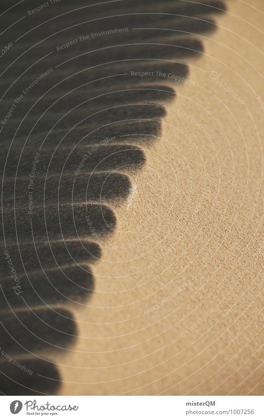 Dünenwirbel II Kunst Umwelt Natur Landschaft ästhetisch Zufriedenheit Sandstrand Sandkorn Wind Stranddüne Wüste Strukturen & Formen Hügel Symmetrie dezent