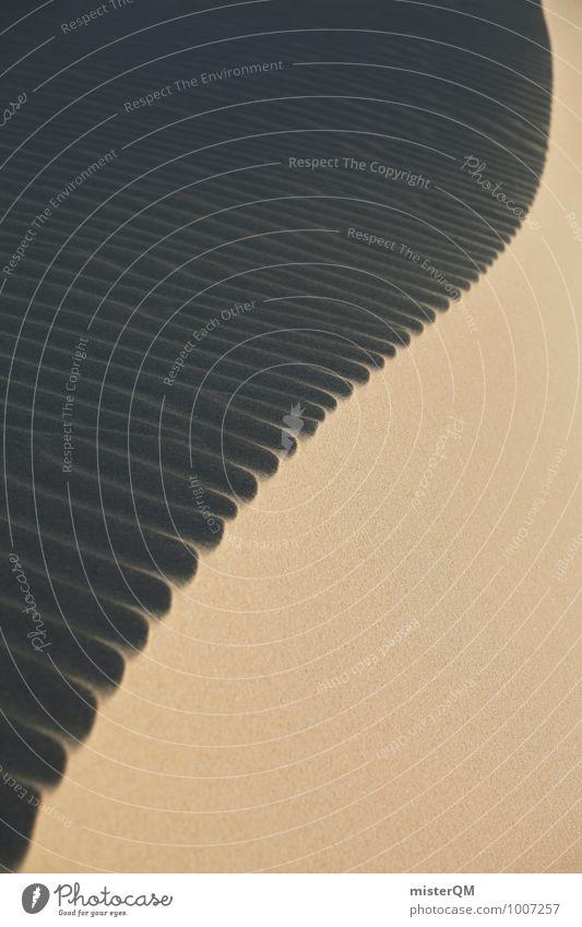 Dünenwirbel I Sand Kunst Idylle Zufriedenheit Wind ästhetisch Wüste Stranddüne Sandstrand Symmetrie