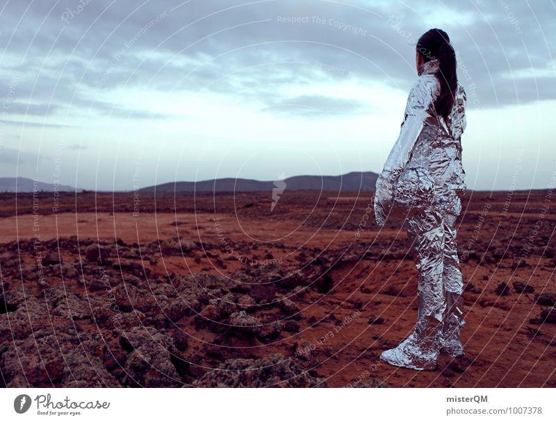 Hello V Mensch Frau Kunst Mode ästhetisch Zukunft Abenteuer Futurismus Filmindustrie Theaterschauspiel Kunstwerk Erscheinung Astronaut Mars Emanzipation Erkundung