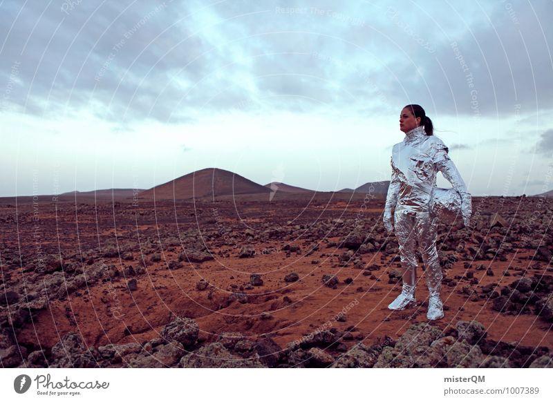 Hello VI Frau Kunst ästhetisch Zukunft Abenteuer Futurismus Theaterschauspiel Bühne Kunstwerk Schauspieler Astronaut Mars Emanzipation Marslandschaft Pionier